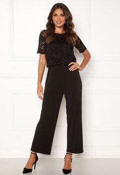 Happy Holly Blanche occasion jumpsuit  Black Bubbleroom.fi