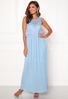 Happy Holly Blanche occasion maxi dress Light blue Bubbleroom.fi
