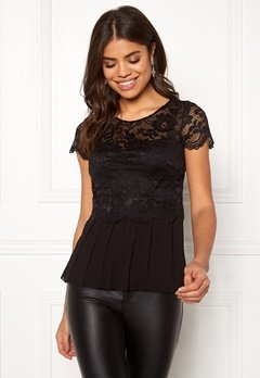 Happy Holly Blanche top Black Bubbleroom.fi