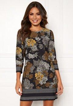 Happy Holly Blenda dress Black / Floral Bubbleroom.fi