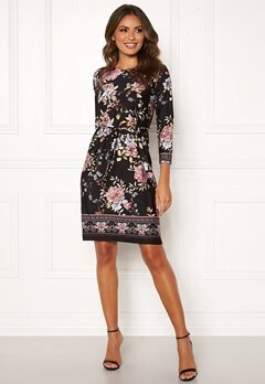 Happy Holly Blenda tieband dress Black / Patterned Bubbleroom.fi