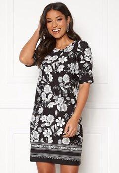 Happy Holly Blenda dress Black / Patterned Bubbleroom.fi