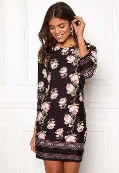 Happy Holly Blenda dress Black / Patterned Bubbleroom.fi