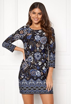 Happy Holly Blenda dress Blue / Patterned Bubbleroom.fi