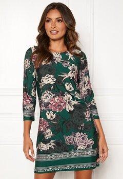 Happy Holly Blenda dress Dark green / Floral Bubbleroom.fi