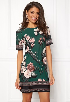 Happy Holly Blenda dress Dark green / Patterned Bubbleroom.fi