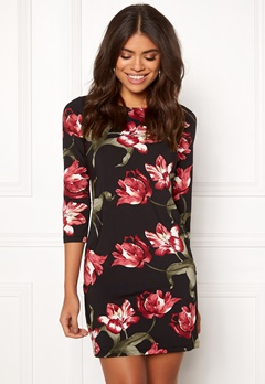 Happy Holly Blenda dress Floral / Black Bubbleroom.fi