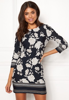 Happy Holly Blenda dress Patterned / Dark blue Bubbleroom.fi