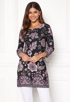 Happy Holly Blenda dress Purple / Patterned Bubbleroom.fi