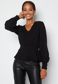 Happy Holly Bonnie blouse Black bubbleroom.fi