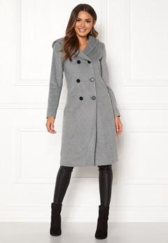 Happy Holly Brielle Hoody coat Grey melange Bubbleroom.fi