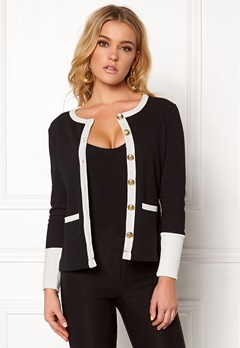 Happy Holly Calla cardigan Black / Offwhite Bubbleroom.fi
