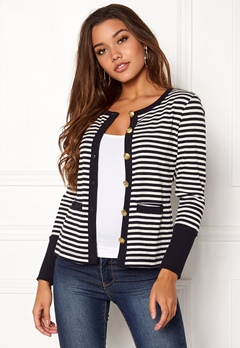 Happy Holly Calla cardigan Dark blue / Striped Bubbleroom.fi