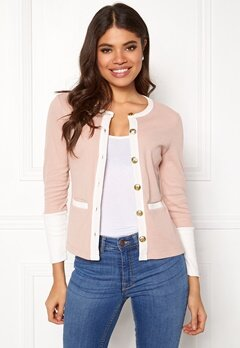 Happy Holly Calla cardigan Dusty pink / Offwhite Bubbleroom.fi
