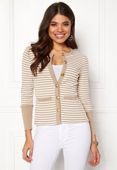Happy Holly Calla cardigan Light mole / Striped Bubbleroom.fi