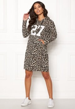 Happy Holly Camila tricot hood Leopard Bubbleroom.fi