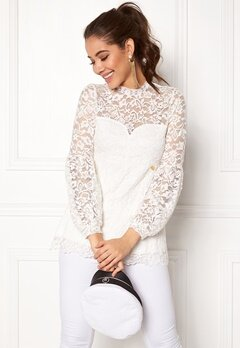 Happy Holly Caroline lace top Offwhite Bubbleroom.fi