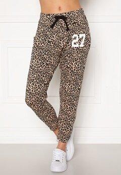 Happy Holly Carolyn pants White / Leopard / Black Bubbleroom.fi