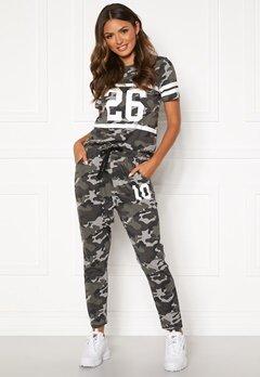 Happy Holly Carolyn tricot pants Grey melange / Camouflage Bubbleroom.fi