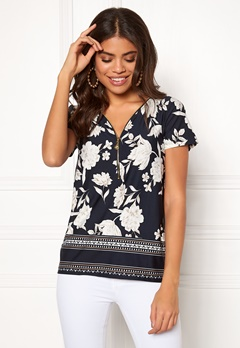 Happy Holly Carrie top Patterned / Dark blue Bubbleroom.fi