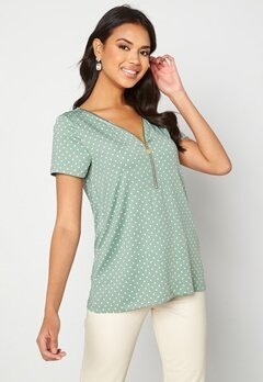 Happy Holly Carrie top Light mint / Offwhite bubbleroom.fi