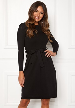 Happy Holly Cecile knitted dress Black Bubbleroom.fi