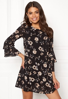 Happy Holly Charlene dress Black / Patterned Bubbleroom.fi