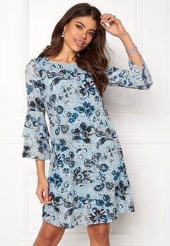 Happy Holly Charlene dress Medium blue / Patterned Bubbleroom.fi