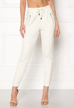 Happy Holly Cleo Trousers Light offwhite Bubbleroom.fi