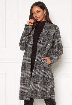 Happy Holly Corinne checked coat Checked / Black Bubbleroom.fi