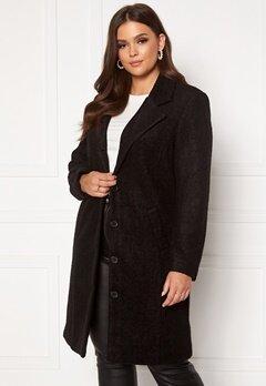 Happy Holly Corinne wool coat Black Bubbleroom.fi