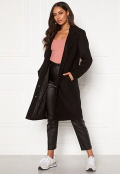Happy Holly Corinne wool coat Black Bubbleroom.fi