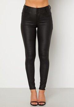 Happy Holly Daniella coated pants  Black bubbleroom.fi