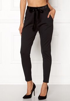 Happy Holly Davina tricot pants Black Bubbleroom.fi