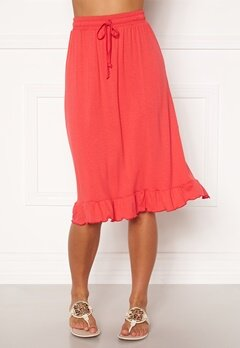 Happy Holly Desiree frill skirt Red Bubbleroom.fi