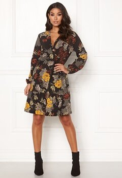 Happy Holly Dolores dress Black / Patterned Bubbleroom.fi