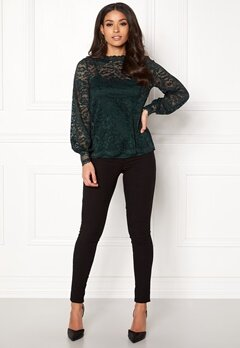 Happy Holly Edda lace top Dark green Bubbleroom.fi
