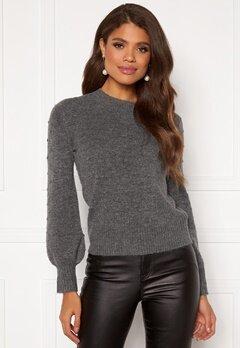 Happy Holly Edith knitted sweater Dark grey / Melange Bubbleroom.fi