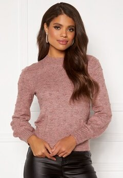 Happy Holly Edith knitted sweater Dusty pink / Melange Bubbleroom.fi