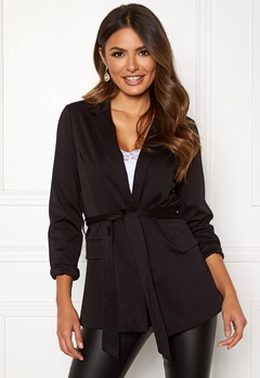 Happy Holly Eleanor tricot blazer Black Bubbleroom.fi