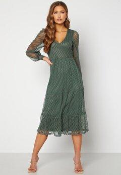 Happy Holly Elin mesh dress Green Bubbleroom.fi