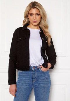 Happy Holly Elina denim jacket Black Bubbleroom.fi