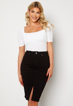 Happy Holly Elina midi denim skirt Black bubbleroom.fi