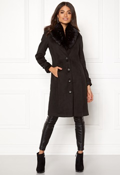 Happy Holly Elisa coat Black Bubbleroom.fi