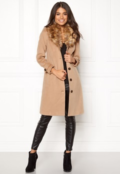 Happy Holly Elisa coat Camel Bubbleroom.fi