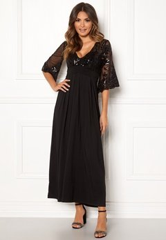 Happy Holly Elise maxi dress Black Bubbleroom.fi