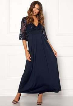 Happy Holly Elise maxi dress Dark blue Bubbleroom.fi