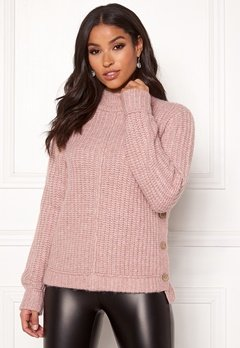 Happy Holly Eliza button sweater Powder pink Bubbleroom.fi