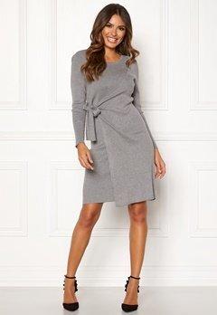 Happy Holly Elizabella knitted dress Grey melange Bubbleroom.fi