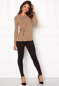 Happy Holly Elizabella sweater Beige melange Bubbleroom.fi